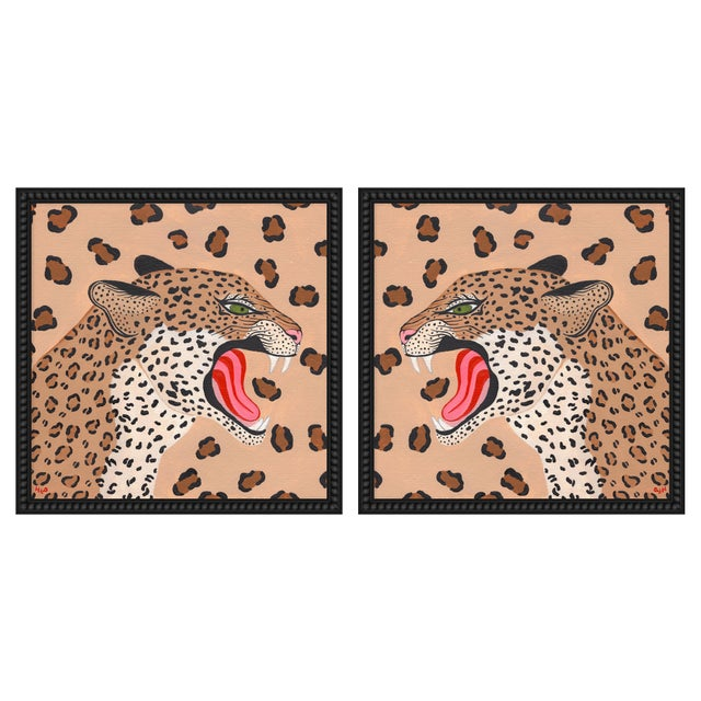"""Contemporary Large """"Cheetahs, a Pair"""" Print by Willa Heart, 52"""" X 26"""" For Sale - Image 3 of 3"""