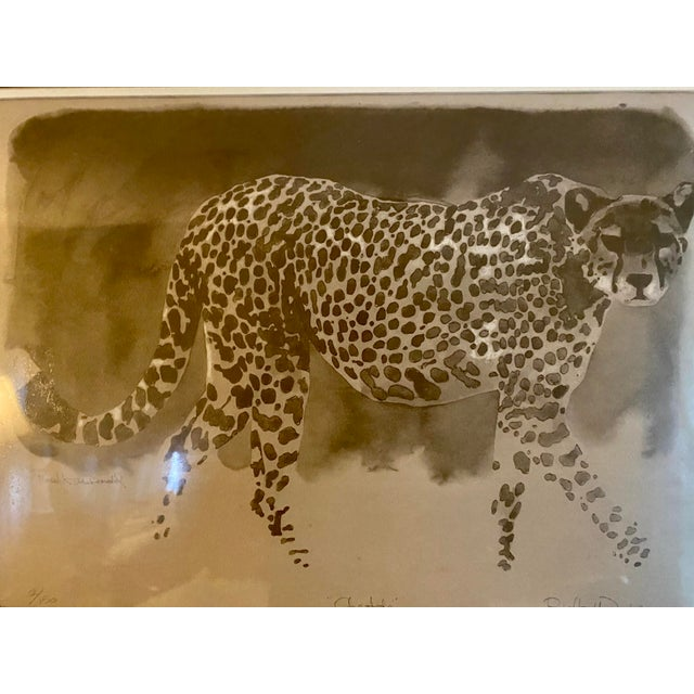 """Handsome limited edition framed & matted """"Cheetah"""" by Robert K. McDonald. Features a beautiful African cheetah in sepia..."""