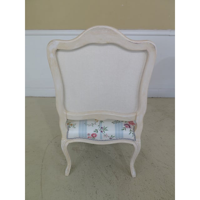 French Inspired Scalamandre Upholstered Armchairs - A Pair For Sale - Image 10 of 13