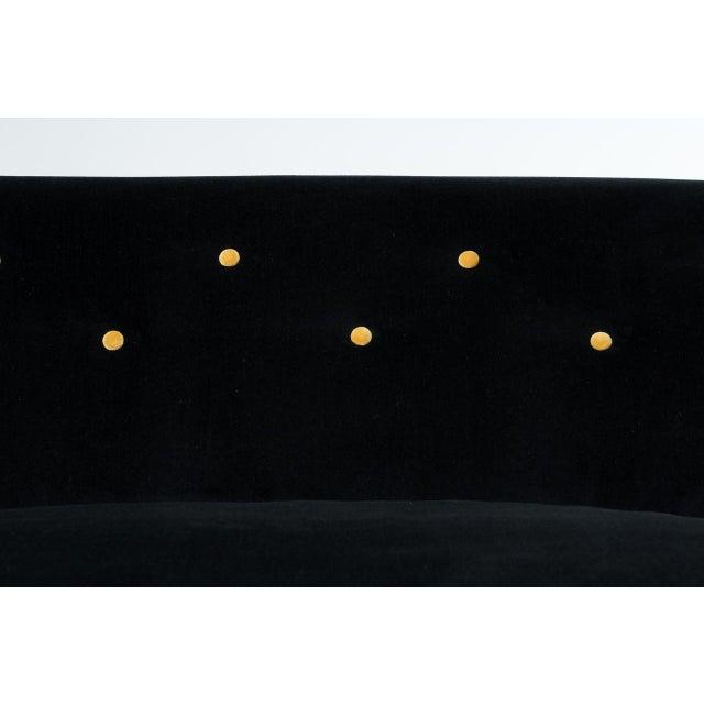 Black & Gold Velvet Sofa - Image 6 of 8