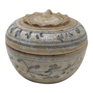 Thai Sawankhalok Ceramic Fruit Form Box For Sale