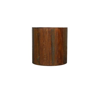 Modern Reclaimed Wood Round Side Table Base Preview