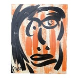 Image of Original Vintage Peter Robert Keil Abstract Face Painting For Sale