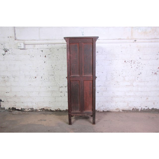 19th Century Belgian Dark Walnut Gothic Bar Cabinet For Sale - Image 9 of 10