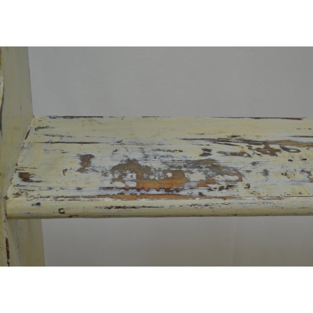 Paint 1880s Painted Pine Kitchen Shelf or Bucket Bench For Sale - Image 7 of 10
