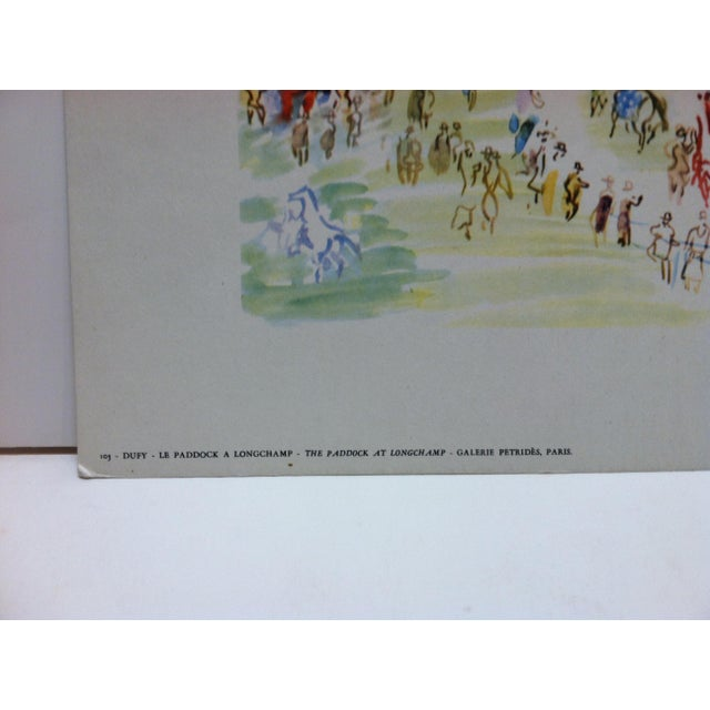 """French """"Le Paddock a Longchamp Galerie Petrides"""" Paris French Print by Duffy For Sale - Image 3 of 4"""