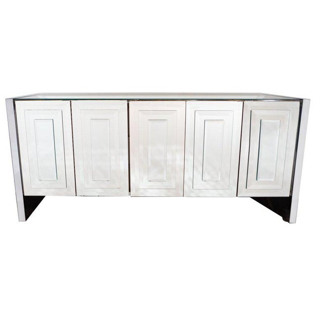 Mid-Century Modern Mirrored and Chrome Sideboard by Ello For Sale - Image 10 of 10