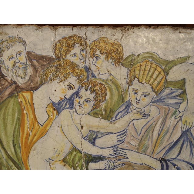 17th Century Antique Painted Tile from Italy, 17th Century For Sale - Image 5 of 7