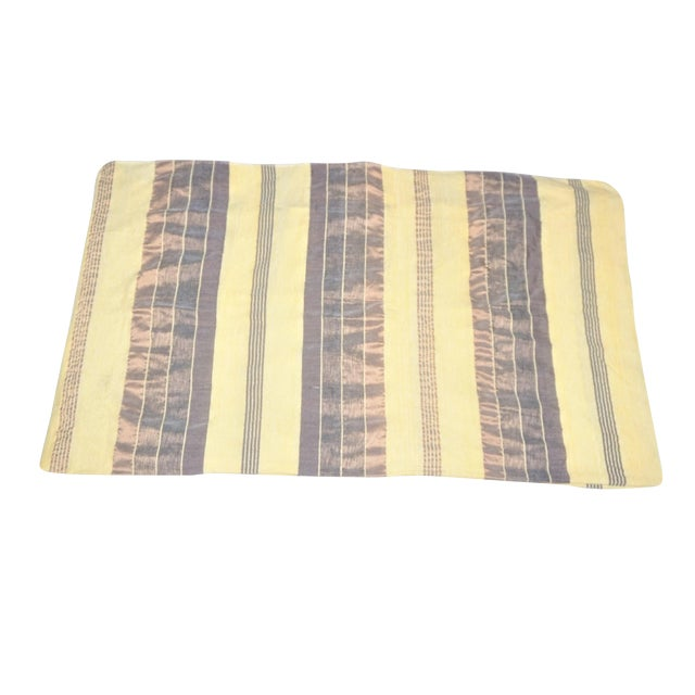 Handmade Moroccan Beige Sabra Throw Blanket For Sale