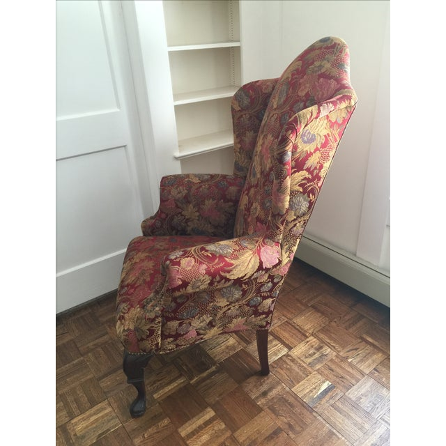 Antique Wingback Chair - Image 7 of 7