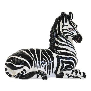 Handmade Decorative Italian Zebra For Sale