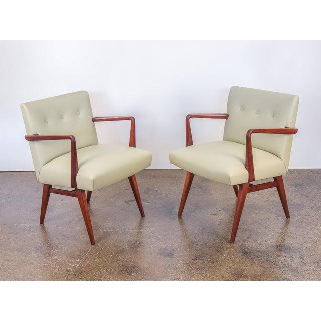 Jens Risom Model 108 Walnut Side Chairs - Image 2 of 11
