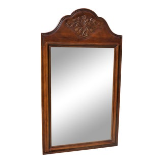 French Provincial Carved Wood Frame Mirror For Sale