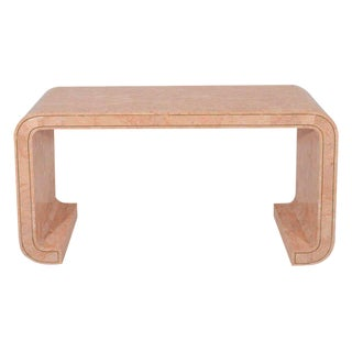 Maitland Smith Tesselated Coral Console Table