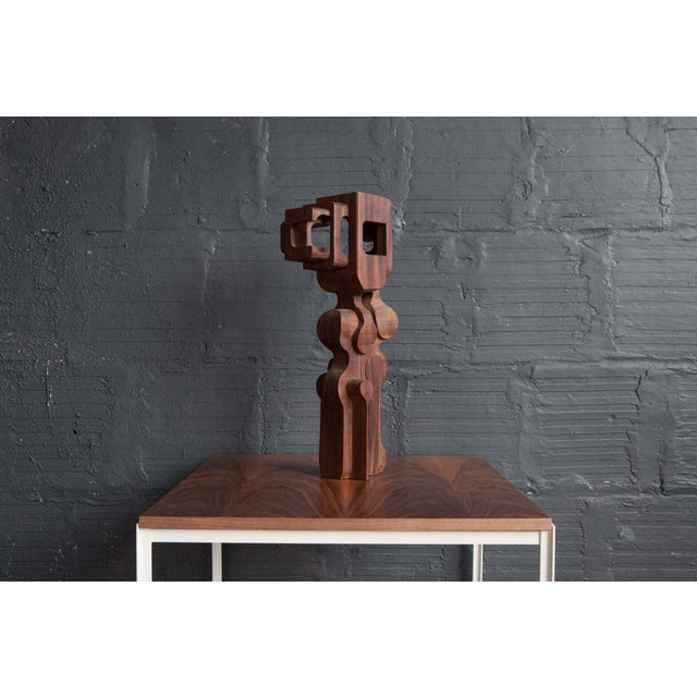 Brian Willshire wood sculpture, c.1960's. Incredible abstract hand carved sculpture from the 1960's. Great form + detail....