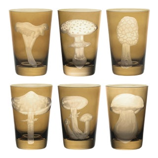 ARTEL Mushrooms Collection Tumblers in Taupe - Set of 6 For Sale