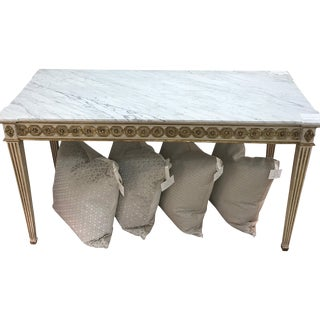 Early 20th Century Console With White Marble Top For Sale