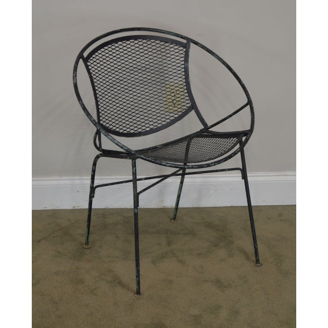 """High Quality Vintage Salterini Expanded Metal and Wrought Iron """"Radar"""" Chair by Salterini"""