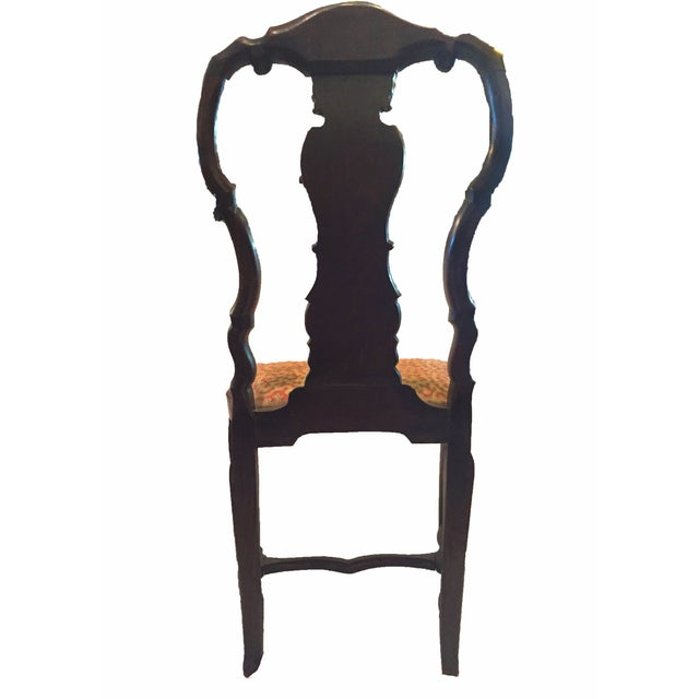 Marquetry Inlaid Chairs - A Pair - Image 4 of 4