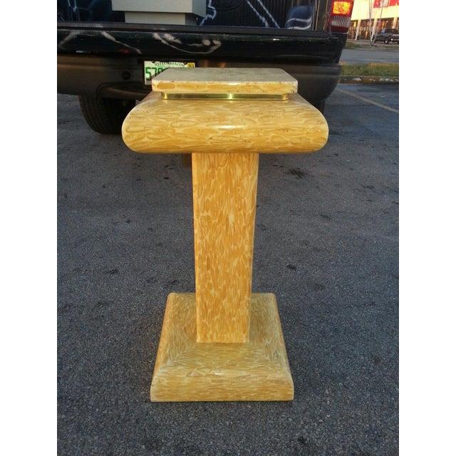 Modern 1970s Vintage Tessellated Deer Antler Pedestal For Sale - Image 3 of 6