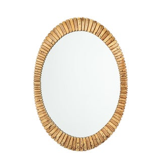 Vintage Gilt Scalloped Mirror For Sale