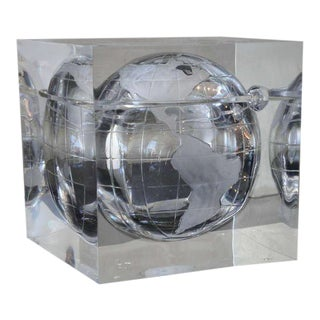 Lucite Globe Ice Bucket For Sale