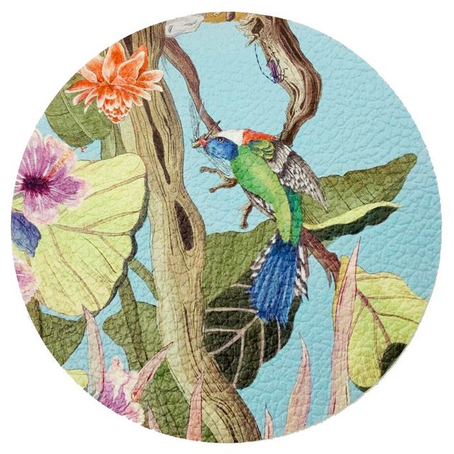 Transitional Palm Beach Paradise by Allison Cosmos Placemats - Set of 4 For Sale - Image 3 of 6