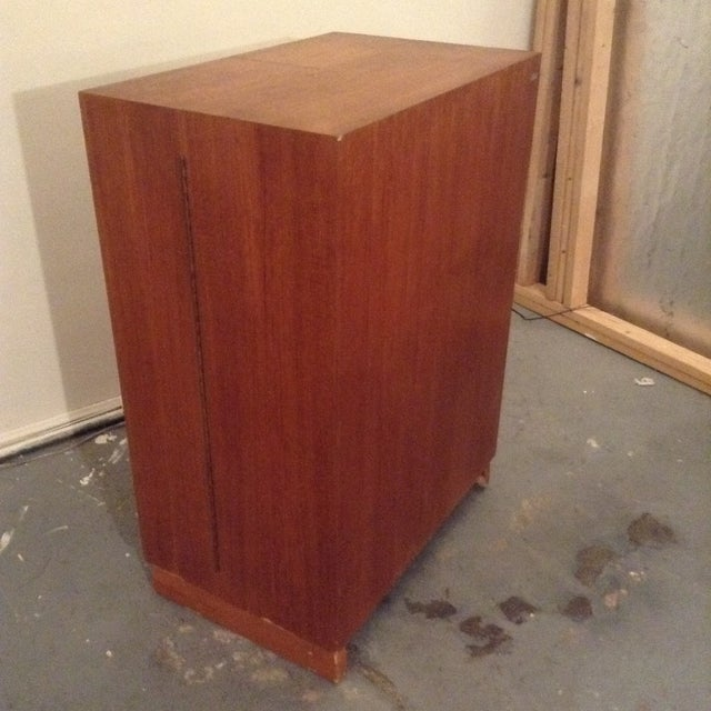 Wood Mid-Century Modern Folding Secretary Desk For Sale - Image 7 of 11