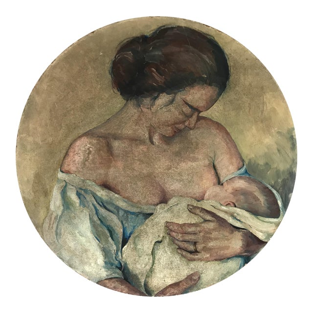 Original Painting of a Mother Nursing - Image 1 of 4
