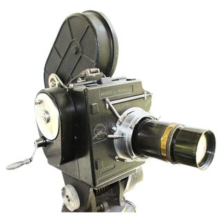 Andre Debrie 35mm Cinema Camera Circa 1925 Complete and Working As Sculpture