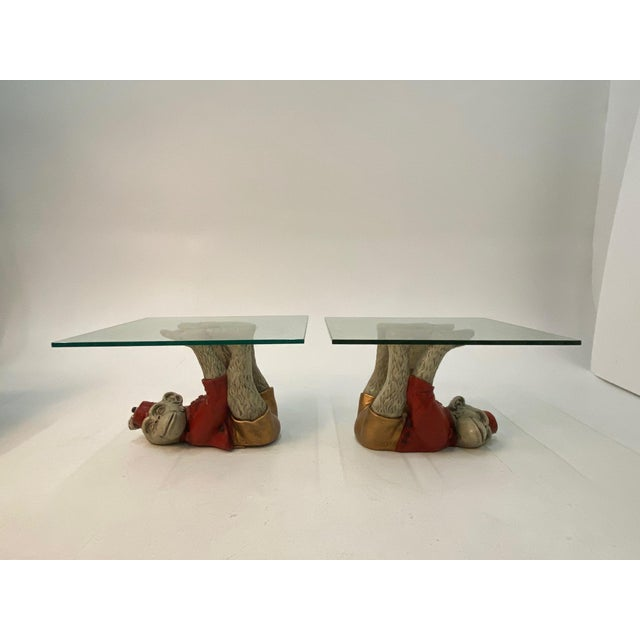 Monkey Motife End Tables Coffee Table -A Pair For Sale - Image 13 of 13