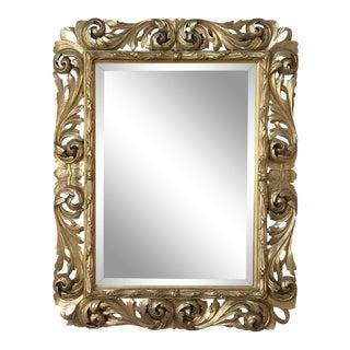 19th Century Italian Baroque Gilded Mirror For Sale
