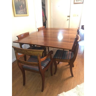 Mid-Century French Country Solid Cherry Table and Chairs Set Preview