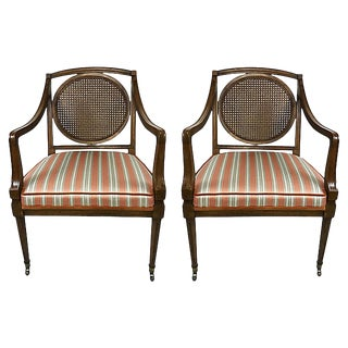 Louis XVI Style Armchairs, Pair For Sale