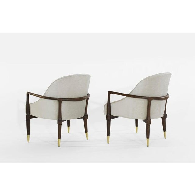 Mid 20th Century Mid-Century Modern Walnut Lounge Chairs - a Pair For Sale - Image 5 of 13