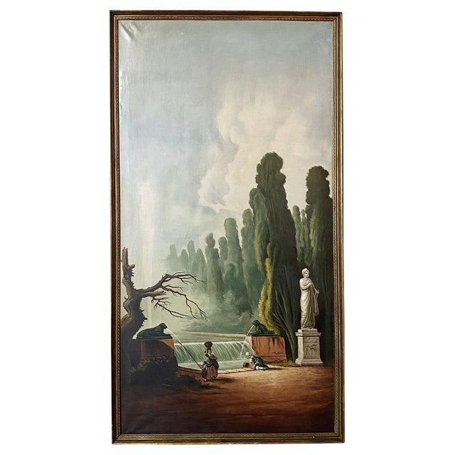 Grand Framed Oil Painting on Canvas by E. Carliez After H. Robert For Sale - Image 12 of 12