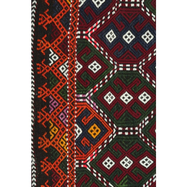 Late 20th Century Vintage Turkish Kilim Rug For Sale - Image 5 of 13