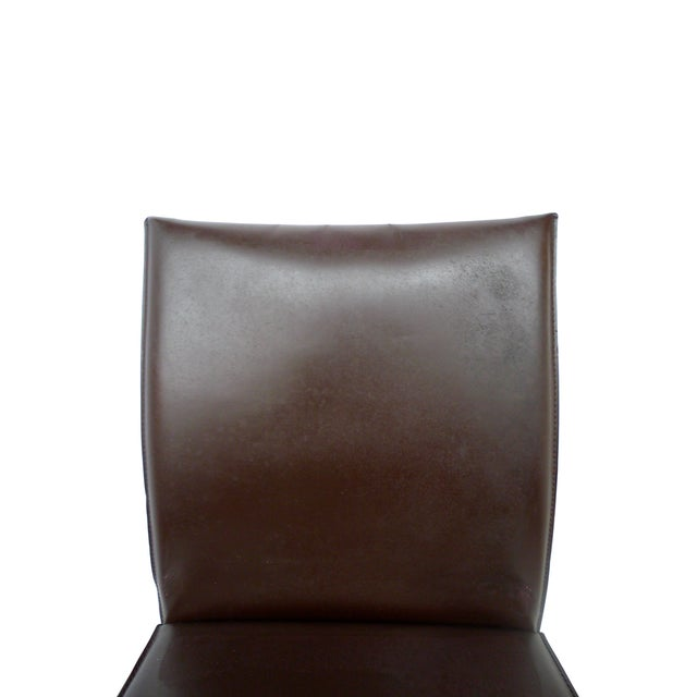 Bellini-Style Leather Side Chairs - A Pair - Image 6 of 9
