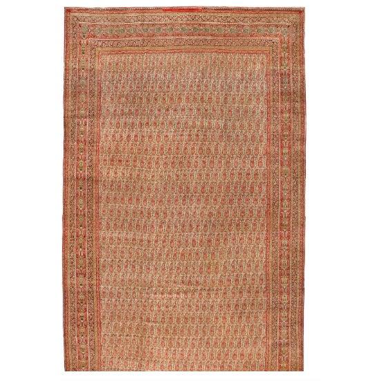 Antique Oversize 19th Century Persian Lavar Kerman Carpet - Image 1 of 1