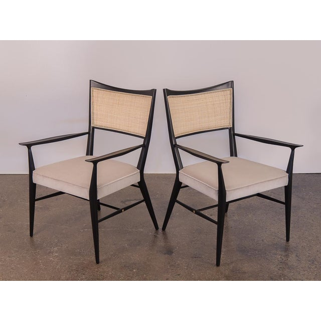 Paul McCobb Ebonized Occasional Chairs - a pair For Sale - Image 10 of 10