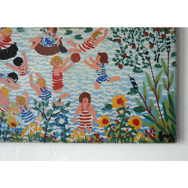 Modernist Celebratory Life Scene Paintings - a Pair For Sale In San Francisco - Image 6 of 9