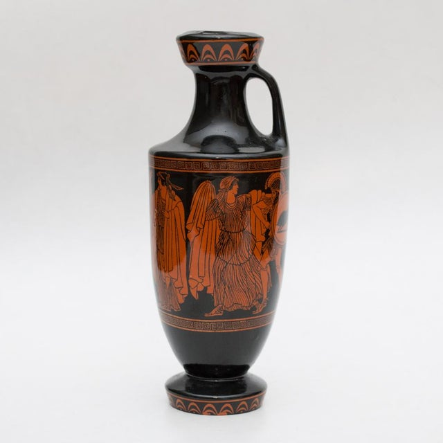 Orange Mid Century Greek Amphora For Sale - Image 8 of 8