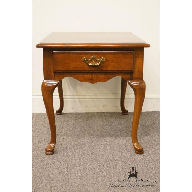 Traditional Thomasville Furniture Collectors Cherry Collection End Table For Sale - Image 3 of 13