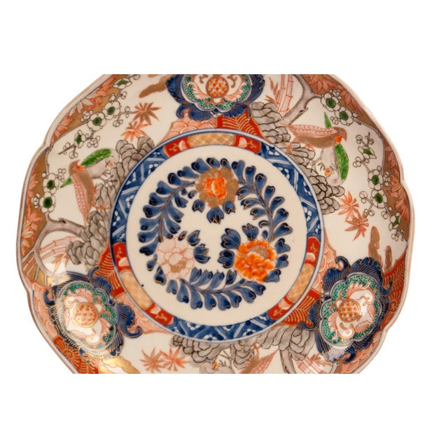 Asian 1880s Japanese Imari Porcelain Charger Plate For Sale - Image 3 of 7