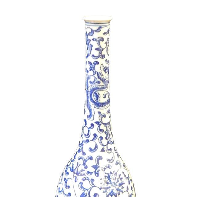 Chinese Blue & White Porcelain Dragon Vase - Image 2 of 5
