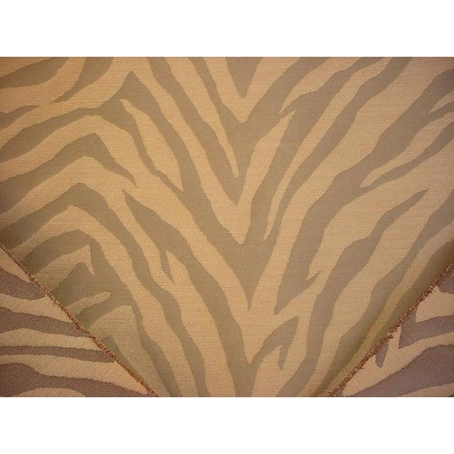 Traditional Kravet Solange Pecan Brown Silk Zebra Stripe Drapery Upholstery Fabric - 20y For Sale - Image 3 of 5