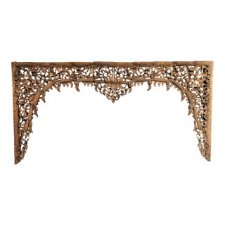 Burmese Hand Carved Arch For Sale