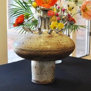 1960s Vintage Franz Kriwanek Large Stoneware Art Pottery Vessel Preview