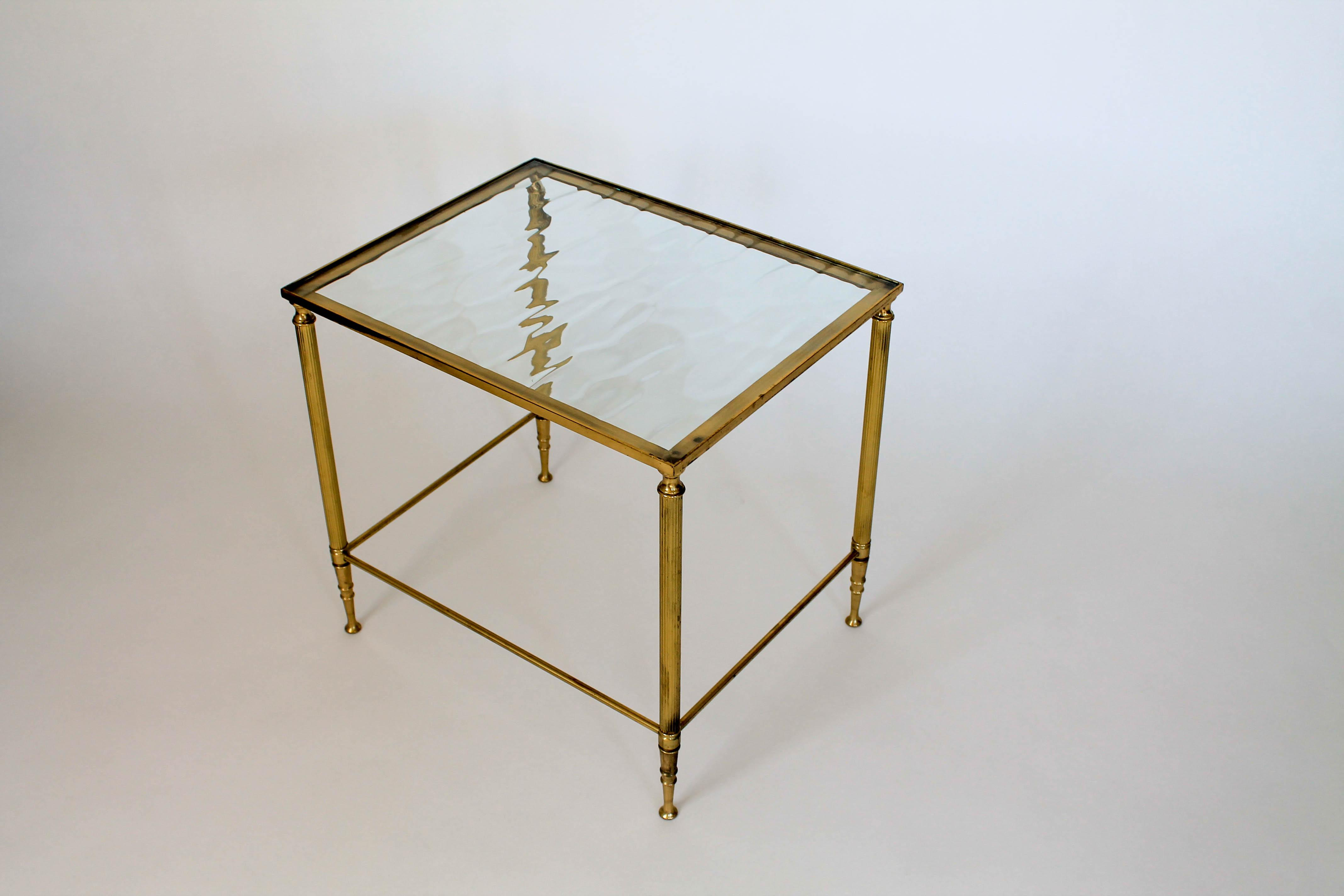 Small Brass And Glass Side Table For Sale   Image 4 Of 8
