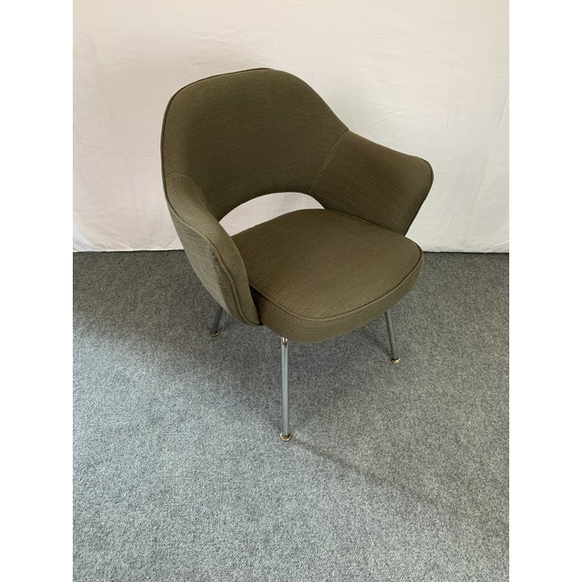Executive Arm Chair Attributed to Eero Saarinen for Knoll For Sale - Image 10 of 11